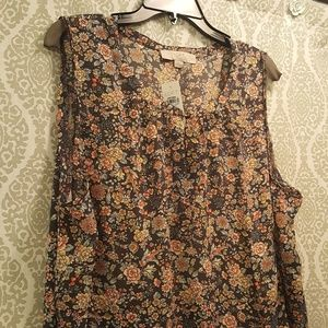 NWT Floral Loft Plus Blouse Size 20/22